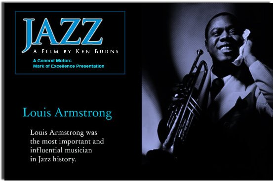 Ken Burns Jazz - with a picture of Louis Armstrong